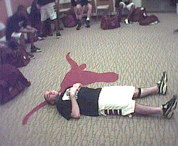 '01 Aaron on the Longhorn Floor